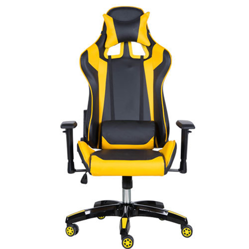Executive Leather Racer Gaming With Lumbar Pillow