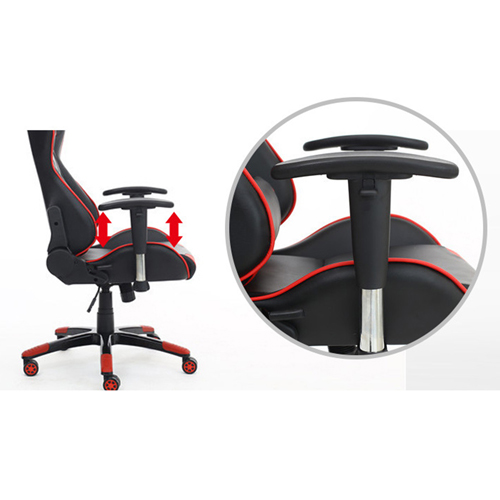 Executive Leather Racer Gaming With Lumbar Pillow Image 29