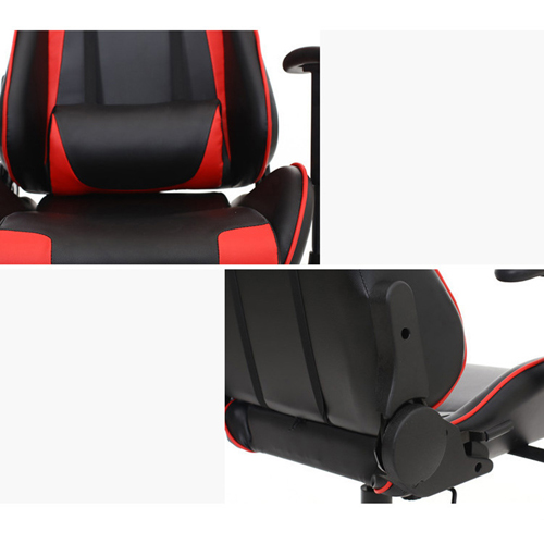 Executive Leather Racer Gaming With Lumbar Pillow Image 30