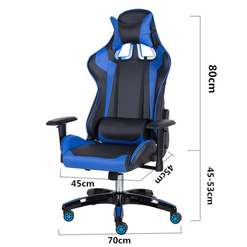 Executive Leather Racer Gaming With Lumbar Pillow Image 35