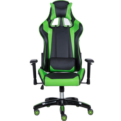 Executive Leather Racer Gaming With Lumbar Pillow Image 2