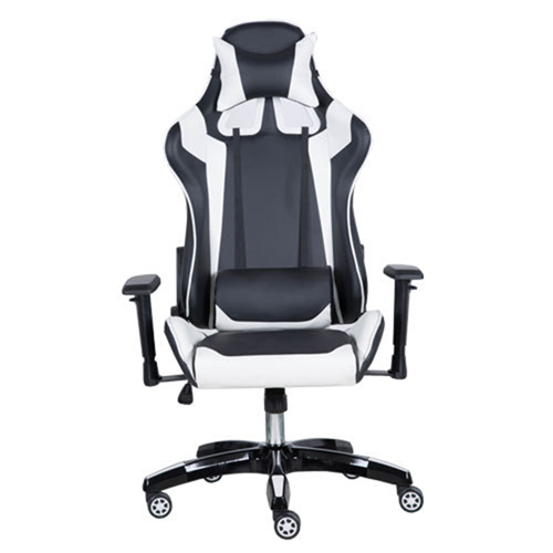 Executive Leather Racer Gaming With Lumbar Pillow Image 4
