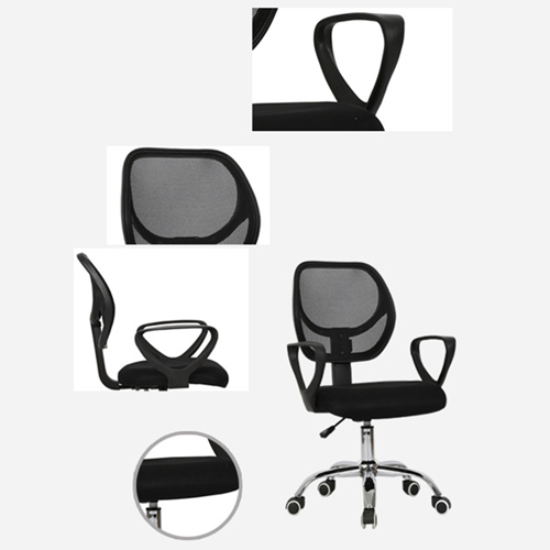 Sara Mesh Fabric Office Chair With Arms Image 6
