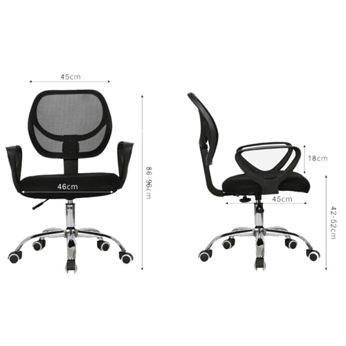 Sara Mesh Fabric Office Chair With Arms Image 7
