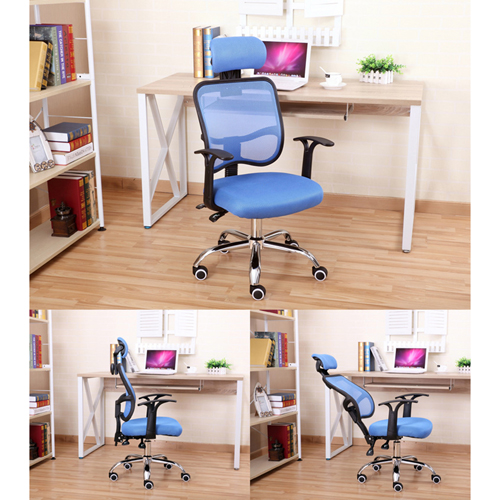 Sleek Ergonomic Mesh Chair With Headrest Image 10