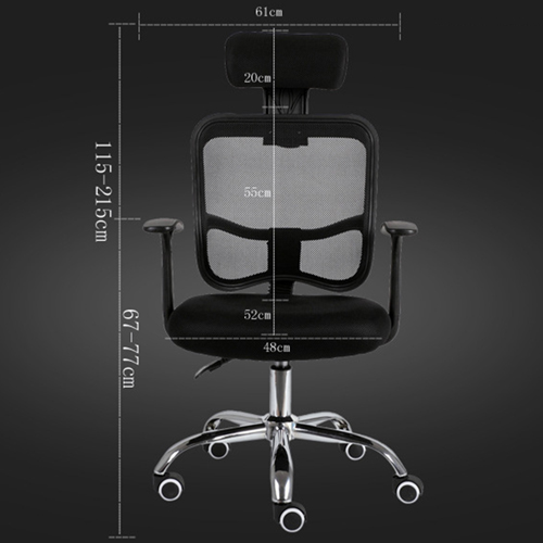 Sleek Ergonomic Mesh Chair With Headrest Image 11