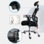 Sleek Ergonomic Mesh Chair With Headrest Image 12