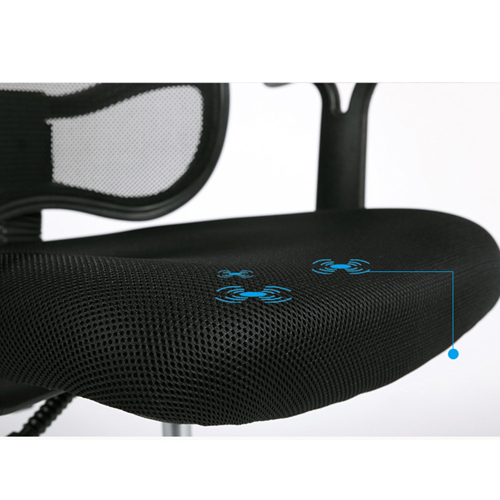 Sleek Ergonomic Mesh Chair With Headrest Image 14