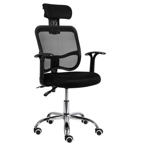 Sleek Ergonomic Mesh Chair With Headrest Image 2