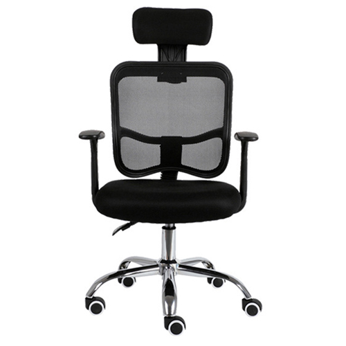 Sleek Ergonomic Mesh Chair With Headrest Image 3