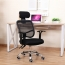 Sleek Ergonomic Mesh Chair With Headrest Image 4