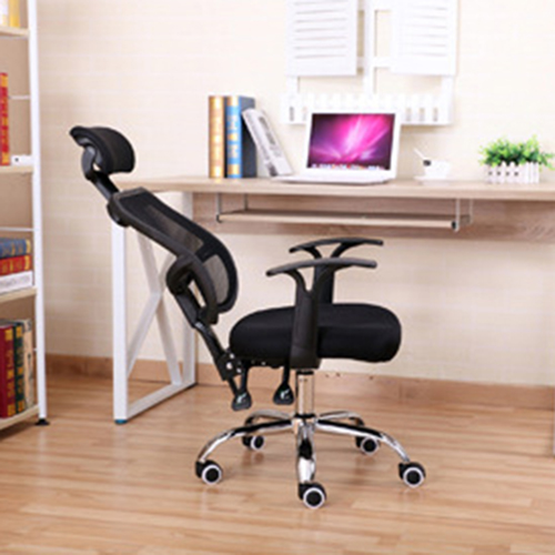 Sleek Ergonomic Mesh Chair With Headrest Image 6