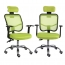 Sleek Ergonomic Mesh Chair With Headrest
