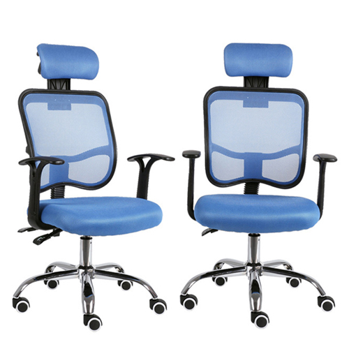 Sleek Ergonomic Mesh Chair With Headrest Image 7