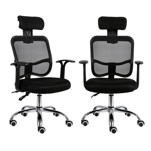 Sleek Ergonomic Mesh Chair With Headrest Image 8