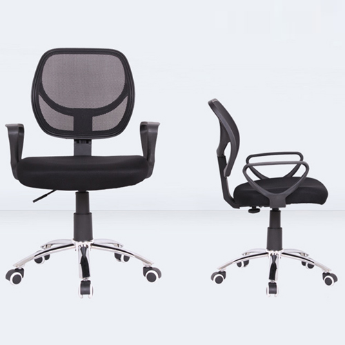Smart Steel Fixed Mesh Office Chair Image 2