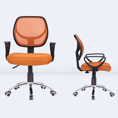 Smart Steel Fixed Mesh Office Chair Image 3