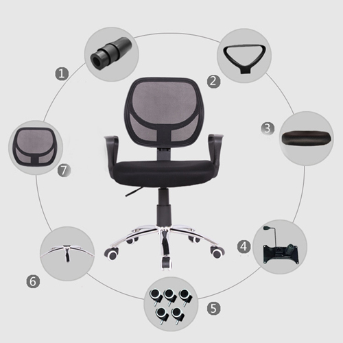 Smart Steel Fixed Mesh Office Chair Image 7