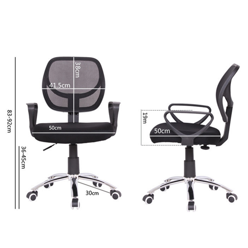 Smart Steel Fixed Mesh Office Chair Image 8