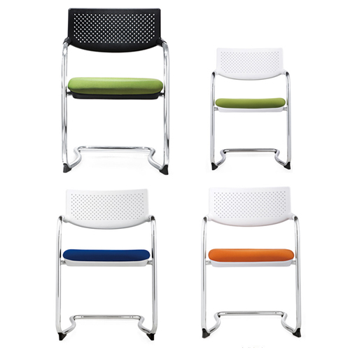 Bow-Shaped Breathable Mesh Office Chair Image 2
