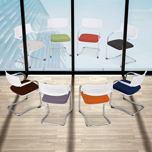 Bow-Shaped Breathable Mesh Office Chair Image 5