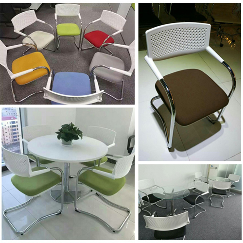 Bow-Shaped Breathable Mesh Office Chair Image 6