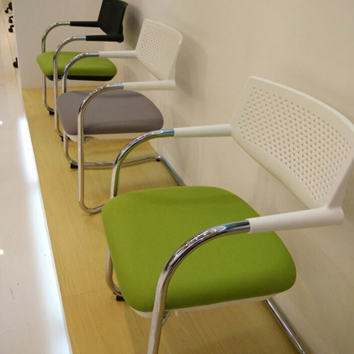 Bow-Shaped Breathable Mesh Office Chair Image 8