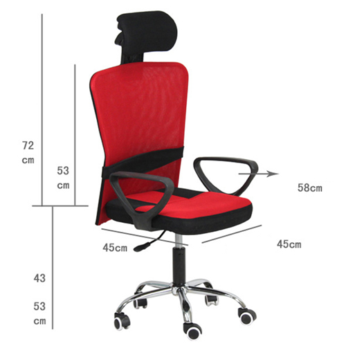 Competitive Office Rolling Chair With Headrest Image 4