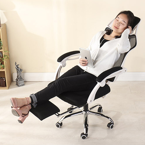 Ergonomic Swivel Mesh Chair with Stealth Legrest Image 10