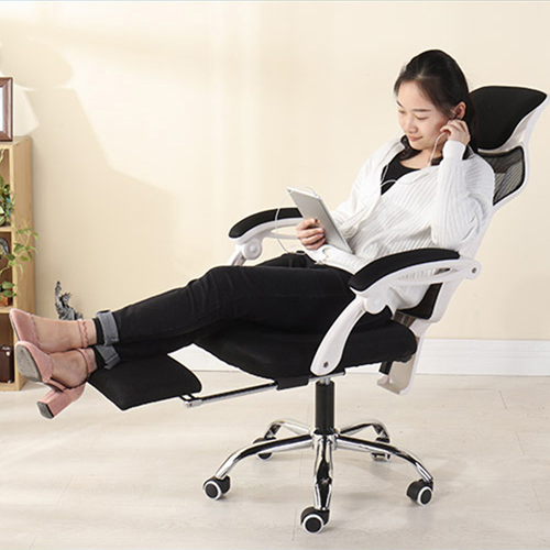 Ergonomic Swivel Mesh Chair with Stealth Legrest Image 11