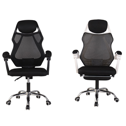 Ergonomic Swivel Mesh Chair with Stealth Legrest Image 13