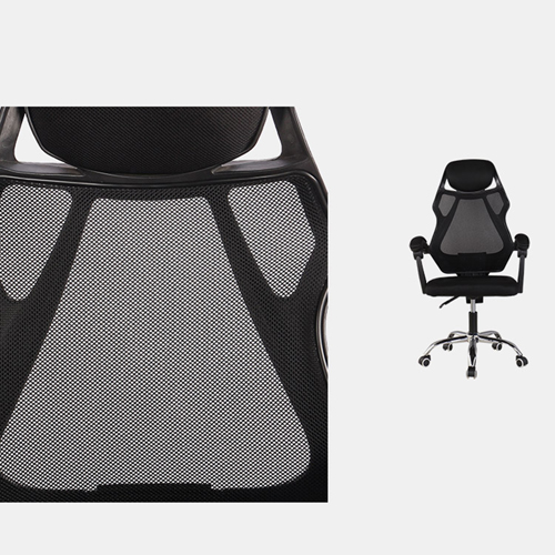 Ergonomic Swivel Mesh Chair with Stealth Legrest Image 15