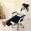 Ergonomic Swivel Mesh Chair with Stealth Legrest Image 1