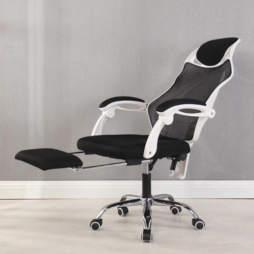 Ergonomic Swivel Mesh Chair with Stealth Legrest Image 7