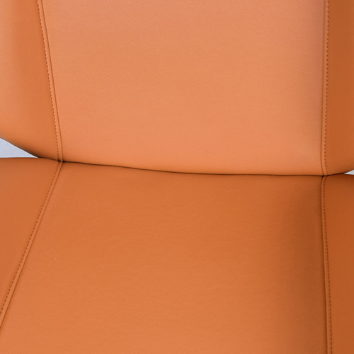 Mid-Back Plywood Leather Chair With Cross Base Image 12