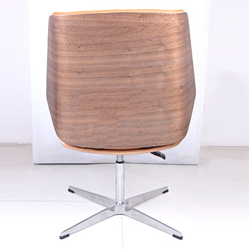 Mid-Back Plywood Leather Chair With Cross Base Image 5