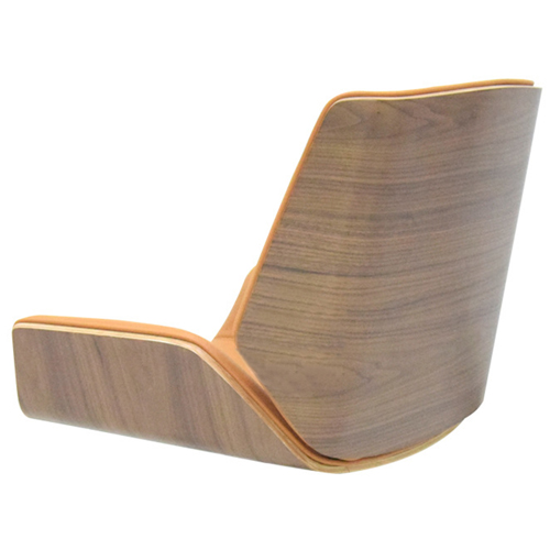 Mid-Back Plywood Leather Chair With Cross Base Image 8