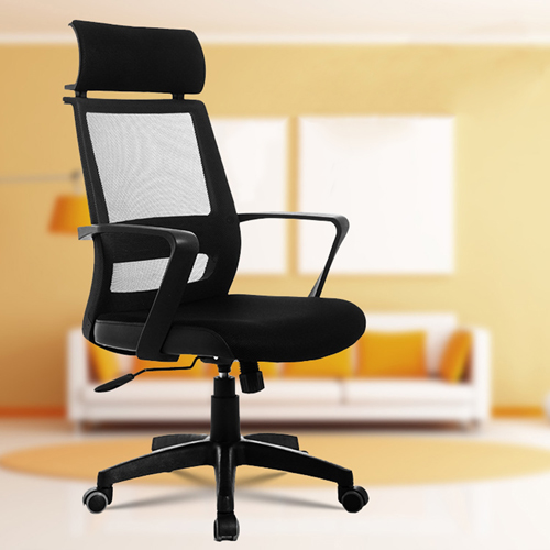 Fully Adjustable Mesh Office Chair With Headrest Image 1