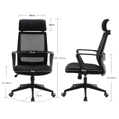 Fully Adjustable Mesh Office Chair With Headrest Image 6