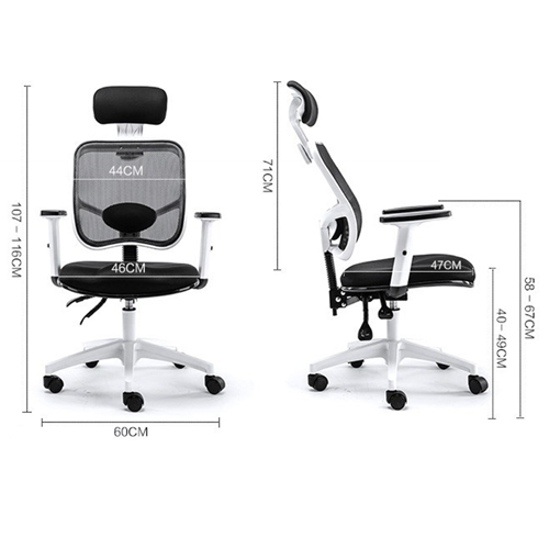 Reclining Rotating Mesh Chair With Footrest Image 9