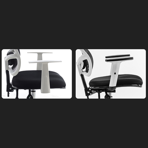 Reclining Rotating Mesh Chair With Footrest Image 11