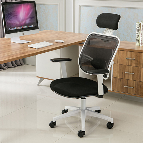 Reclining Rotating Mesh Chair With Footrest