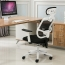Reclining Rotating Mesh Chair With Footrest Image 1