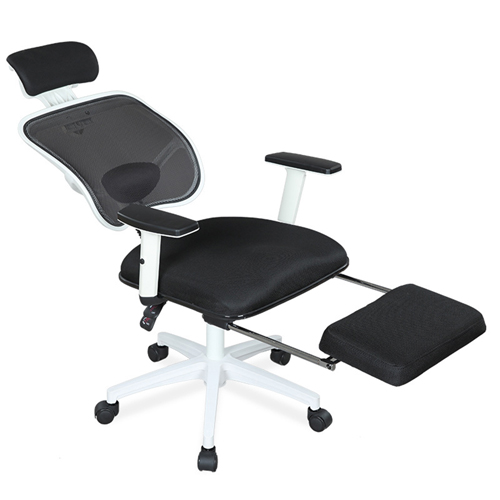 Reclining Rotating Mesh Chair With Footrest Image 3