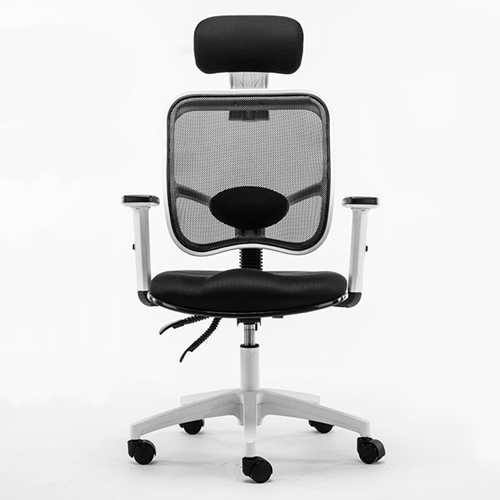 Reclining Rotating Mesh Chair With Footrest Image 4