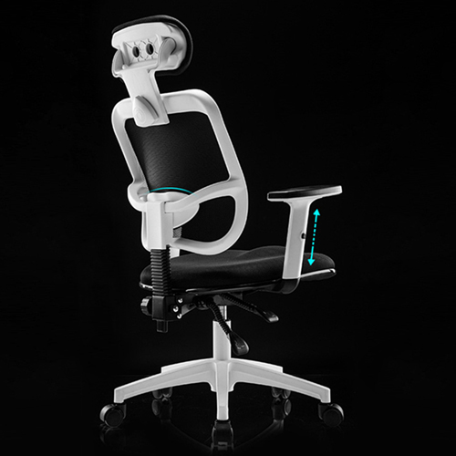 Reclining Rotating Mesh Chair With Footrest Image 6