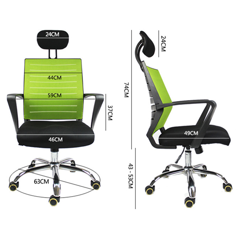 Add On High Back Mesh Chair With Headrest Image 5