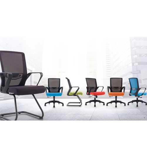 Arc Shaped Office Mesh Chair Image 9