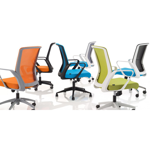Arc Shaped Office Mesh Chair Image 8