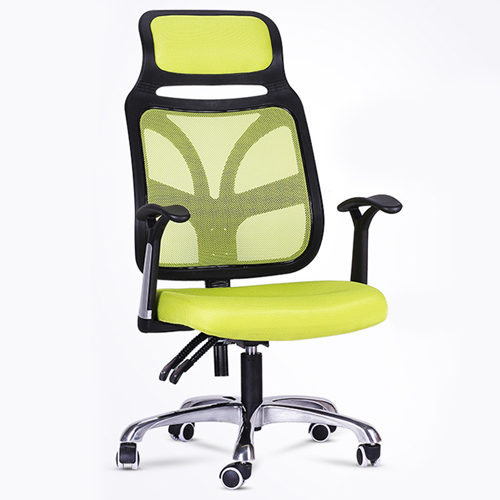 Designer Mesh High Back Office Chair with Headrest Image 3